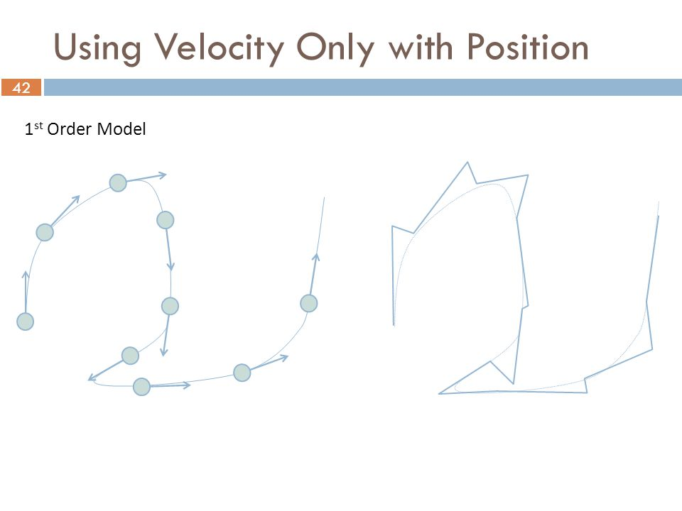 42 1 st Order Model Using Velocity Only with Position