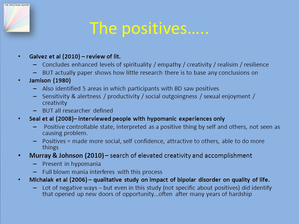 The positives….. Galvez et al (2010) – review of lit.