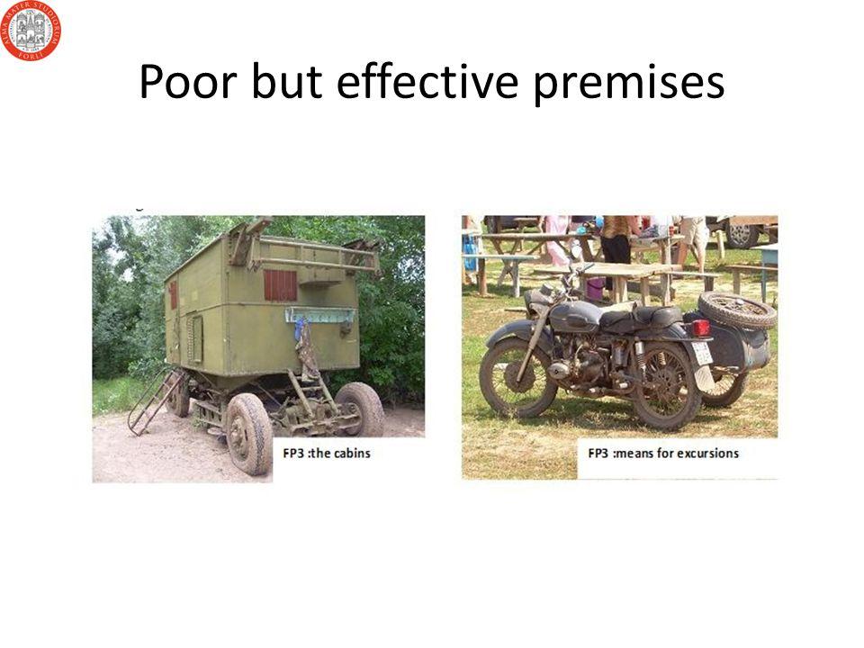Poor but effective premises