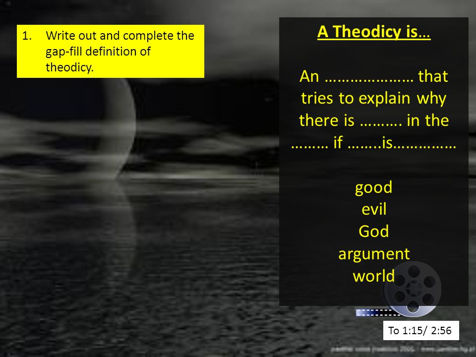 """Presentation """"Can God exist if this happens?. The Problem of Evil ..."""