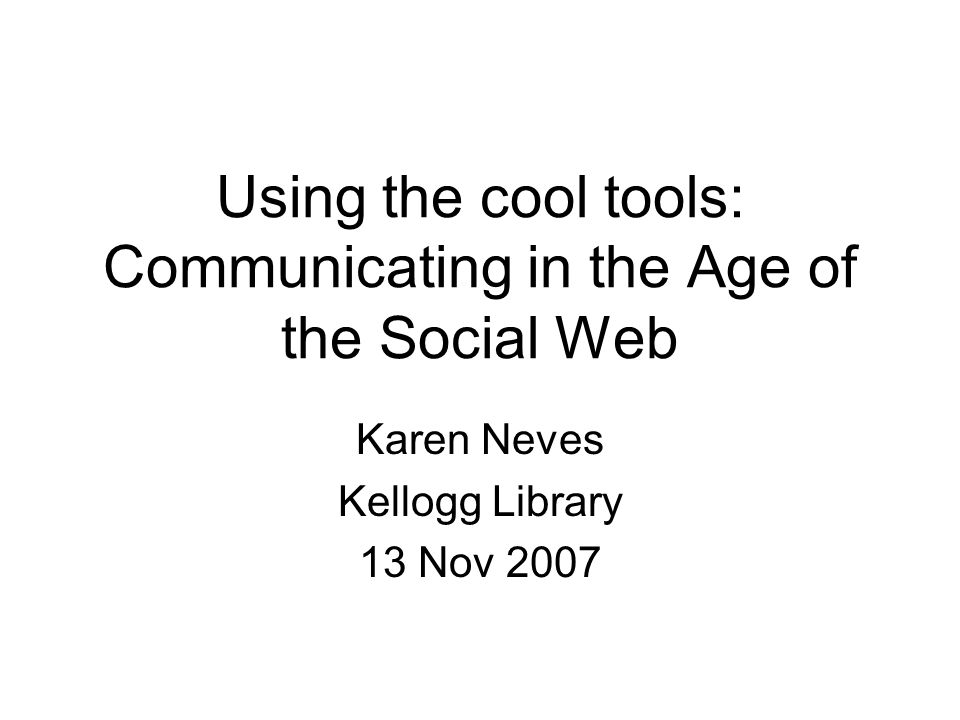 Web 2.0 Movement toward the social web Web becoming much more community focused Important to be linked in Communication becomes more immediate, more group-minded Has led to the development of social software & social networking sites