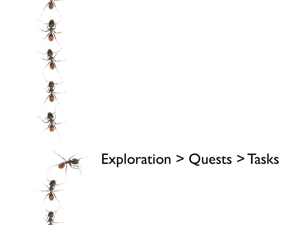 Exploration > Quests > Tasks