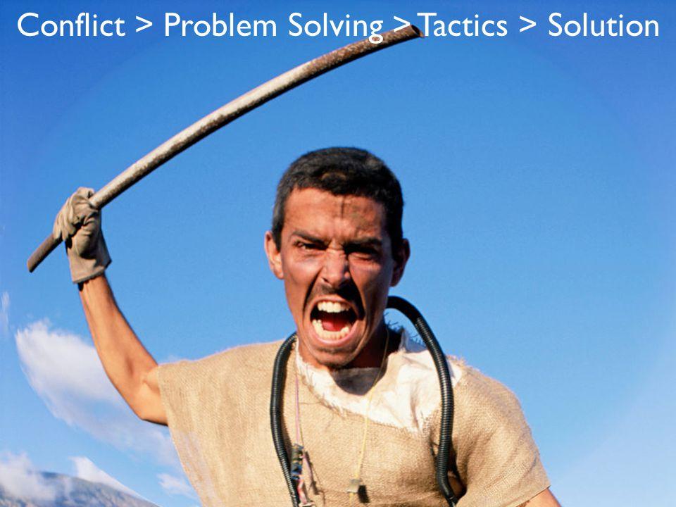 Conflict > Problem Solving > Tactics > Solution