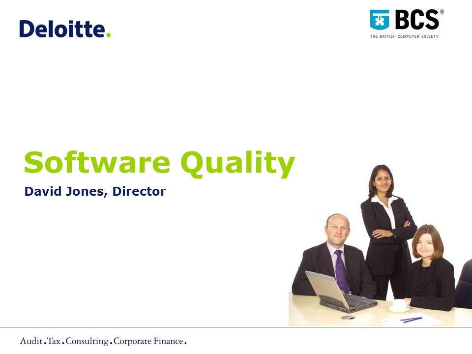 Software Quality David Jones, Director