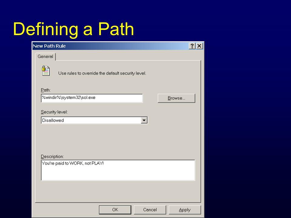 Defining a Path