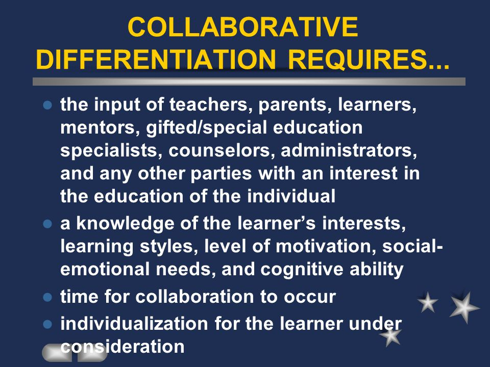 COLLABORATIVE DIFFERENTIATION REQUIRES...