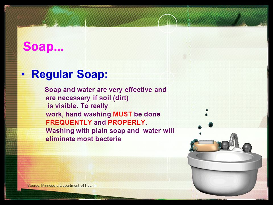 Remember… Use Soap And Water (110 0 F) And sing HAPPY BIRTHDAY (15-20 seconds) To Yourself TWICE