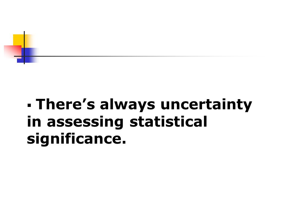  There's always uncertainty in assessing statistical significance.