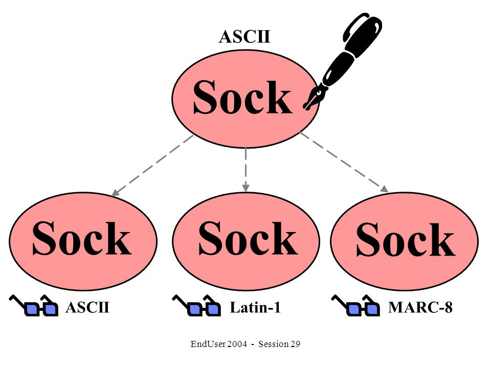 EndUser 2004 - Session 29 Sock MARC-8Latin-1ASCII Sock ASCII