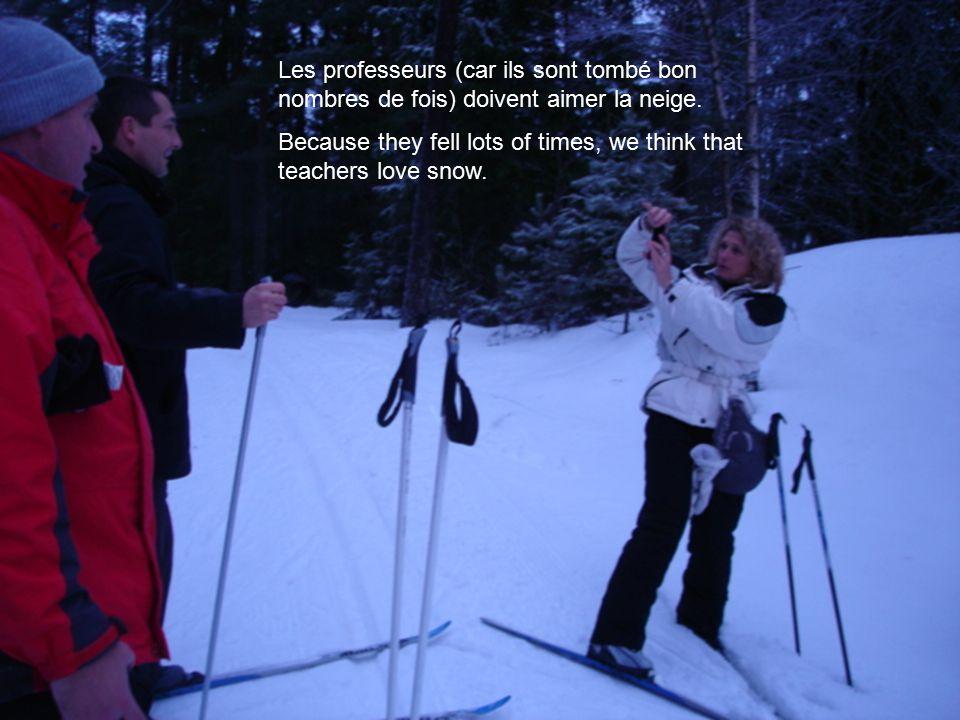 Les professeurs (car ils sont tombé bon nombres de fois) doivent aimer la neige.