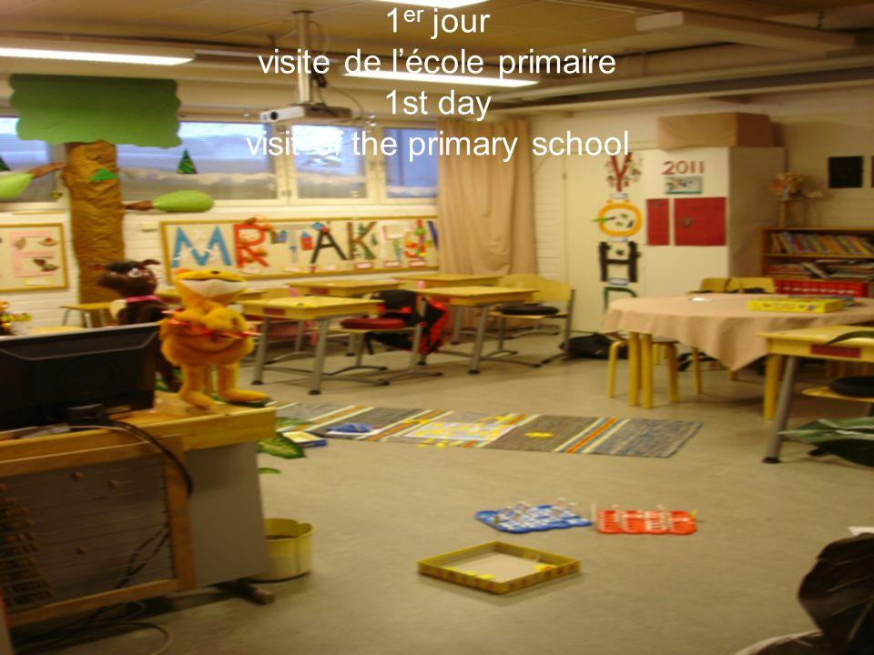 1 er jour visite de l'école primaire 1st day visit of the primary school