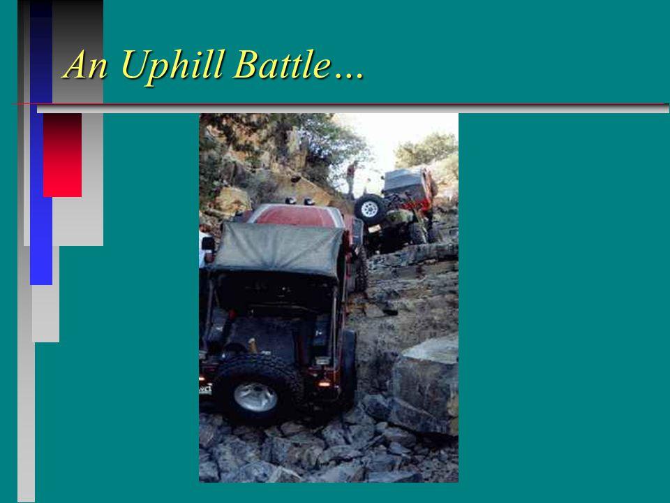 An Uphill Battle…