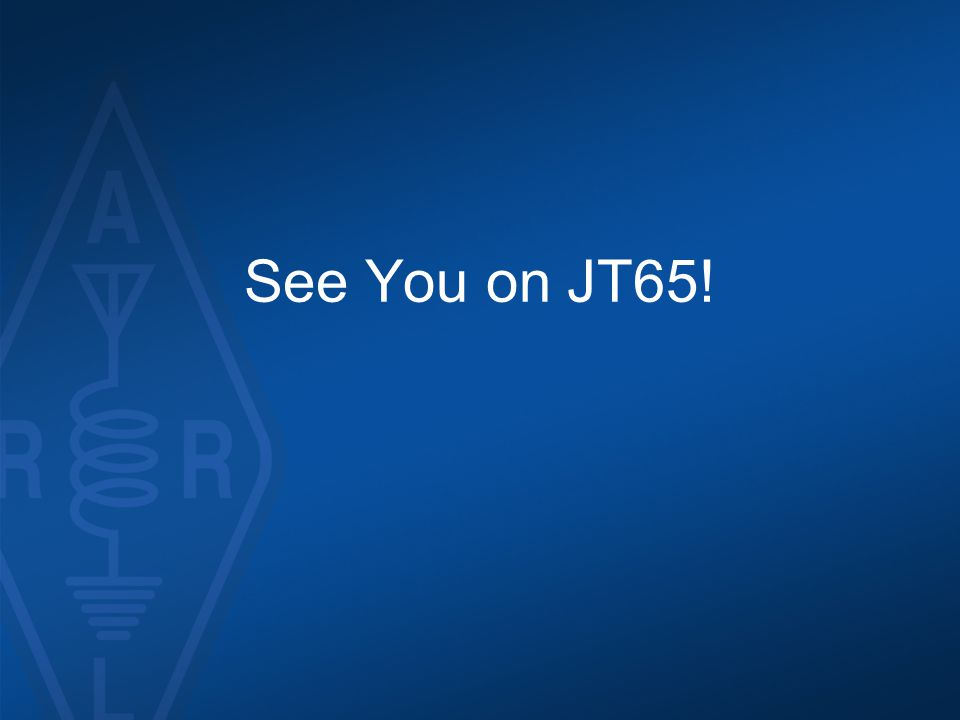 See You on JT65!