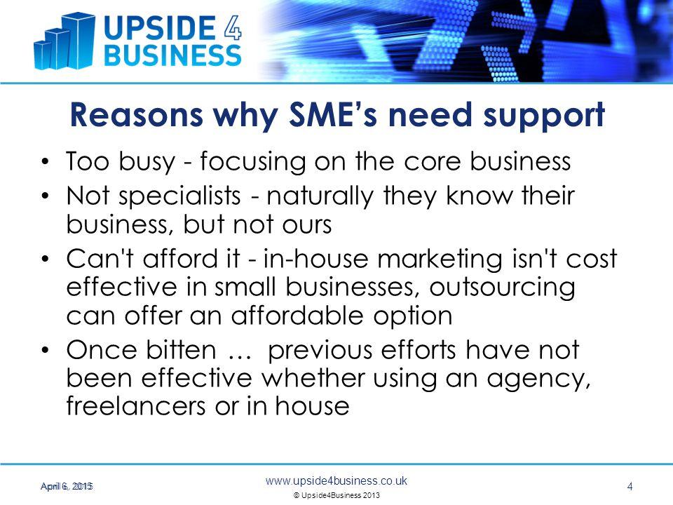 www.upside4business.co.uk © Upside4Business 2013 Why use an agency like Upside.