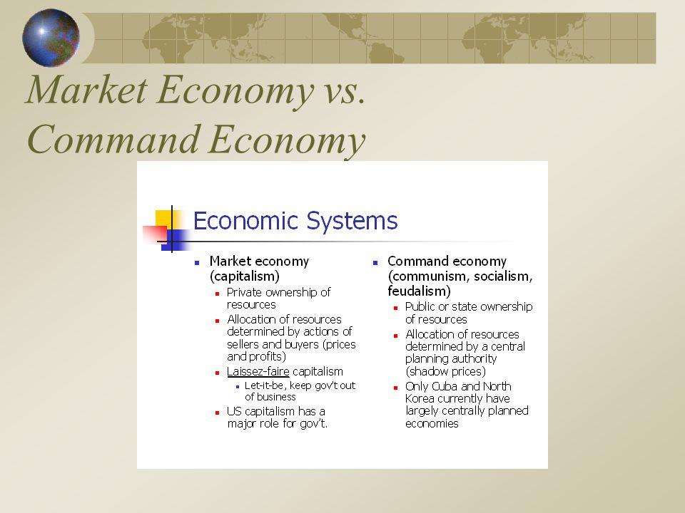 Market Economy vs. Command Economy