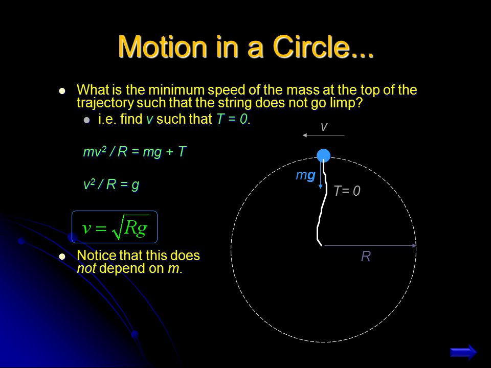 Motion in a Circle...