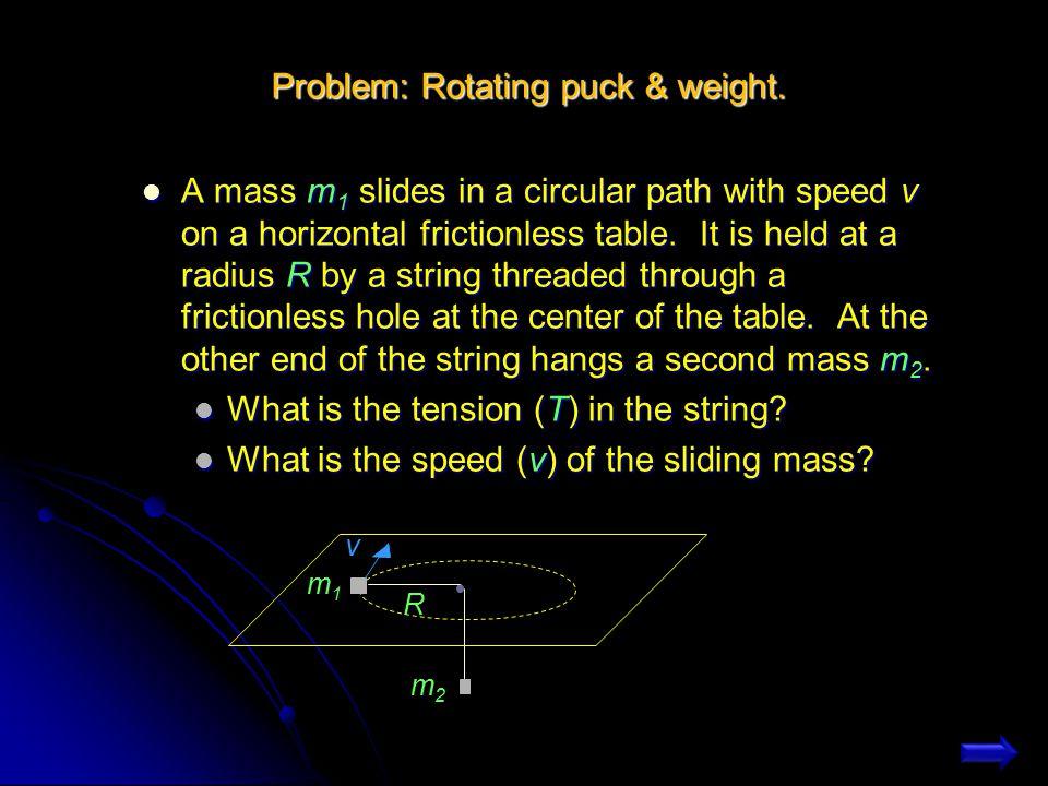 Alternative Solution Alternative Solution T3T3 T2T2 T1T1 3m 2m m a Consider T 1 to be pulling all the boxes T3T3 T2T2 T1T1 3m 2m m a T 2 is pulling only the boxes of mass 3m and 2m T3T3 T2T2 T1T1 3m 2m m a T 3 is pulling only the box of mass 3m T 1 > T 2 > T 3