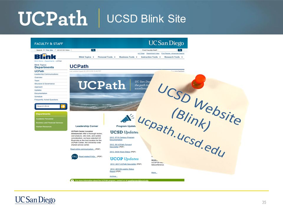 UCSD Blink Site 35