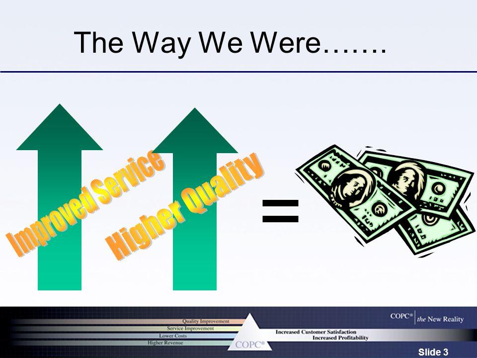 Slide 3 The Way We Were…….