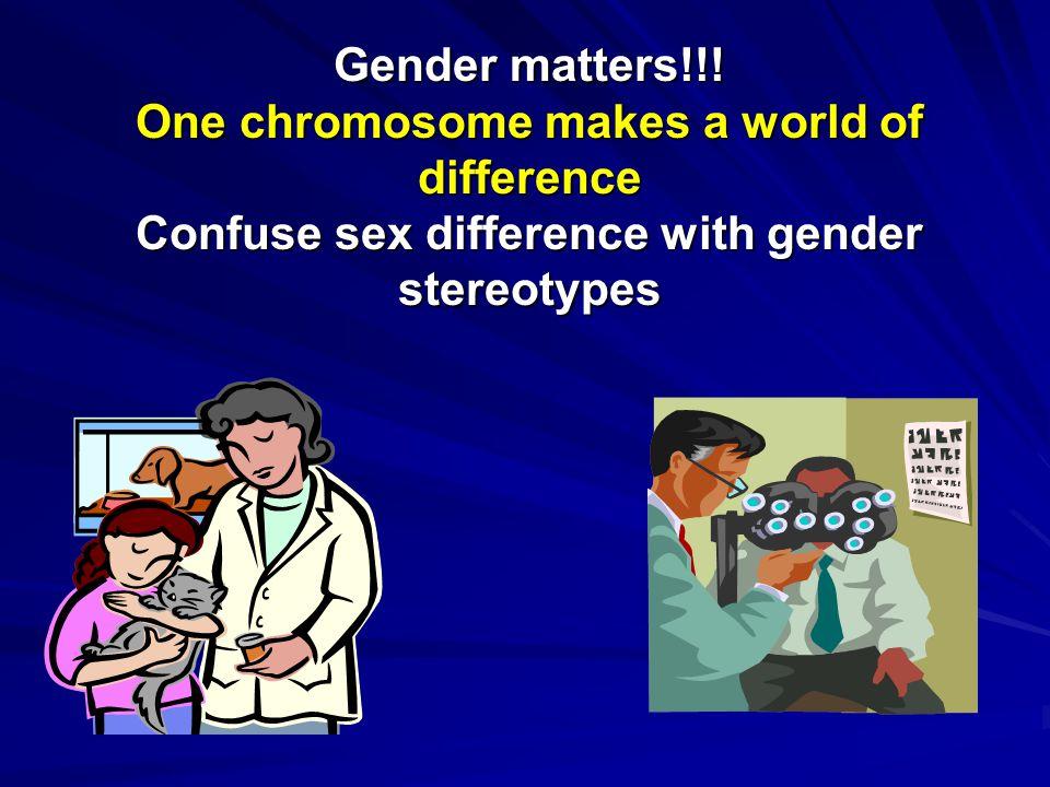 Gender matters!!.