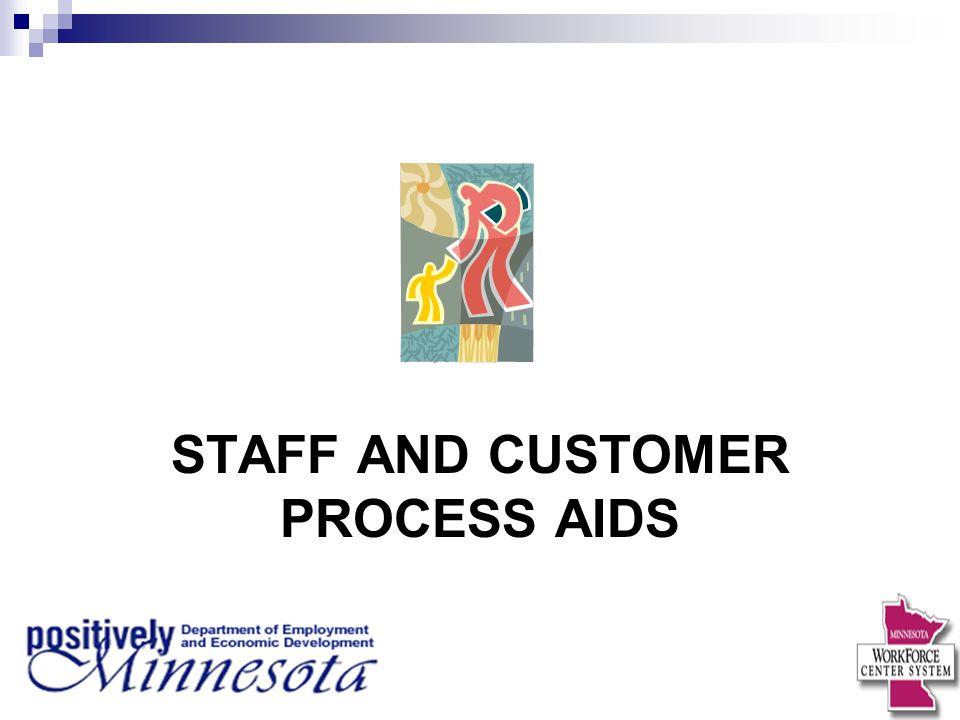 STAFF AND CUSTOMER PROCESS AIDS
