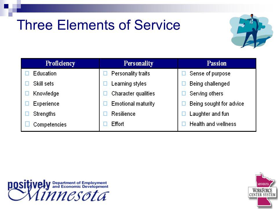 Three Elements of Service