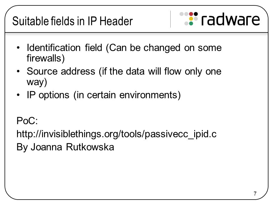 18 ICMP Header There isn't much you could do with ICMP header fields.