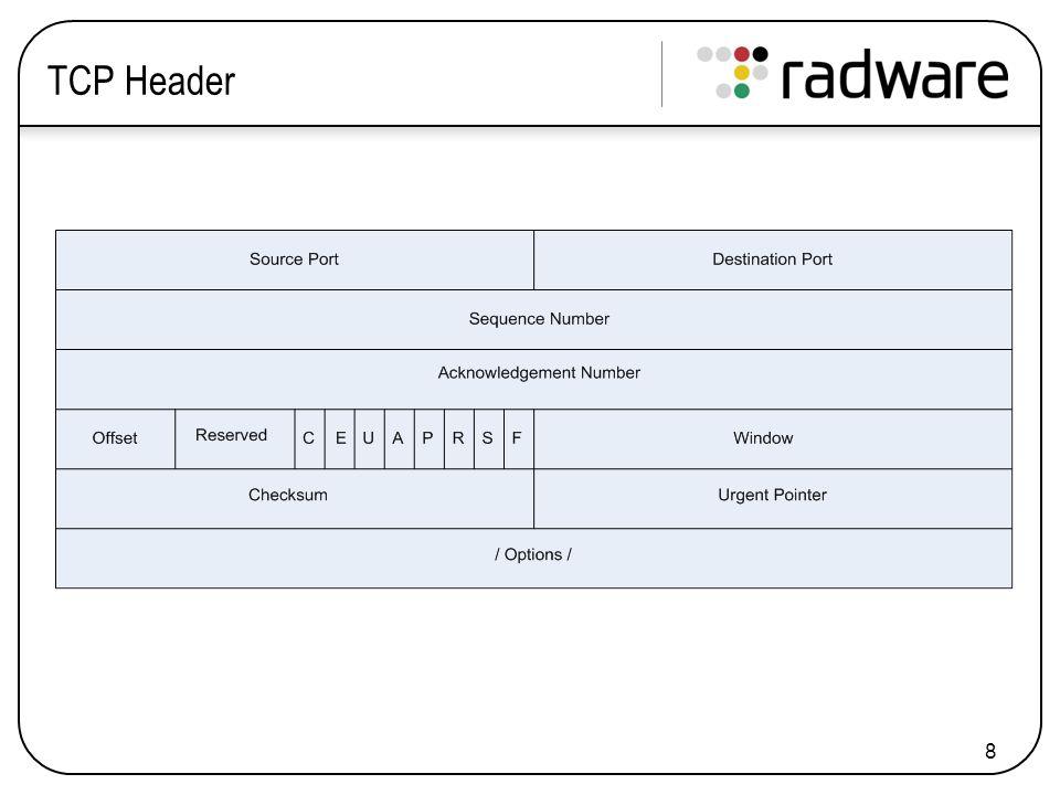 8 TCP Header