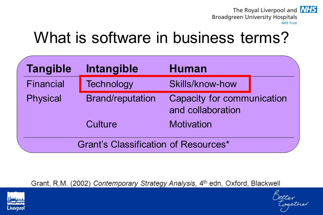 What is software in business terms.
