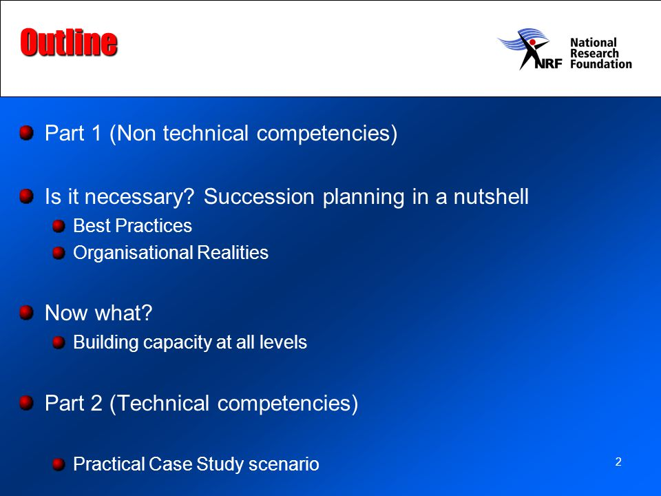 2Outline Part 1 (Non technical competencies) Is it necessary.
