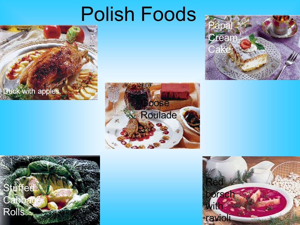 Polish Foods Duck with apples.