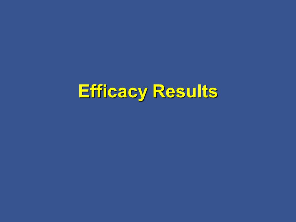 Efficacy Results