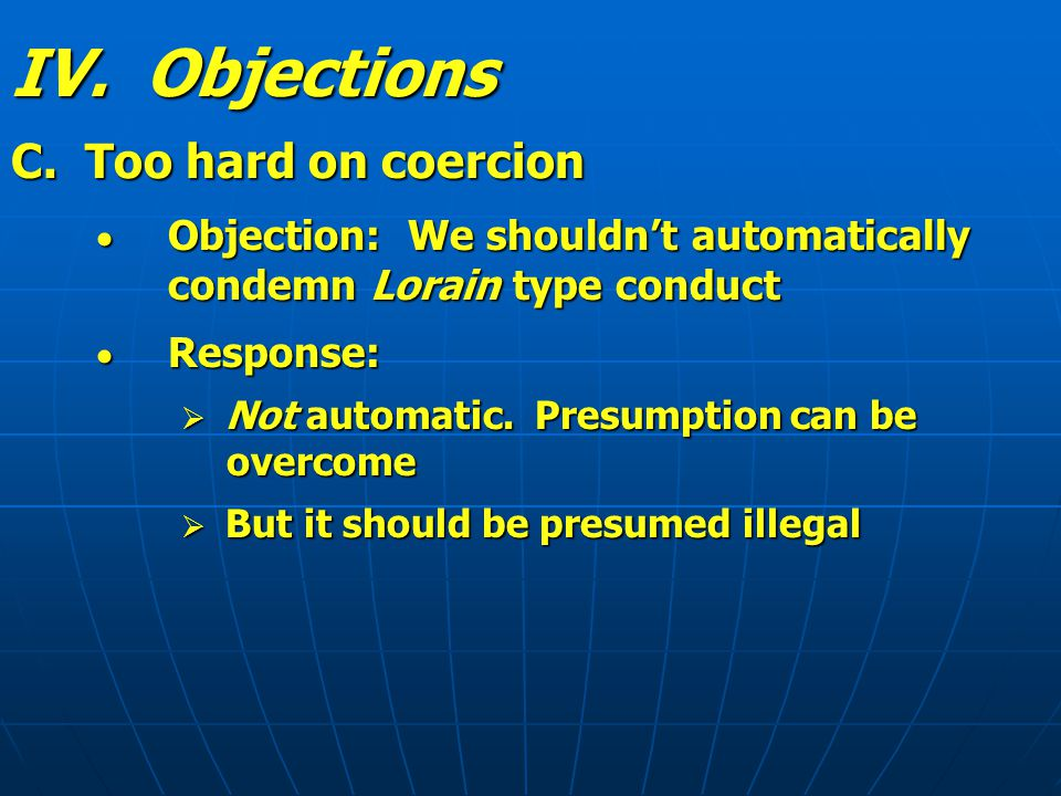IV. Objections C.