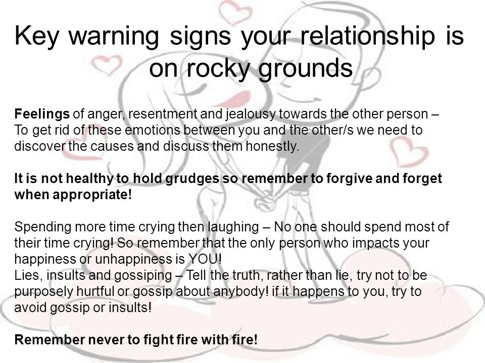 What to do about a rocky relationship.