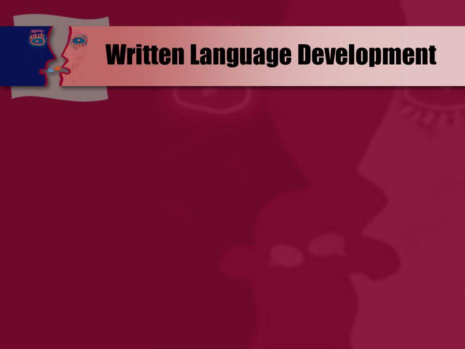 Written Language Development
