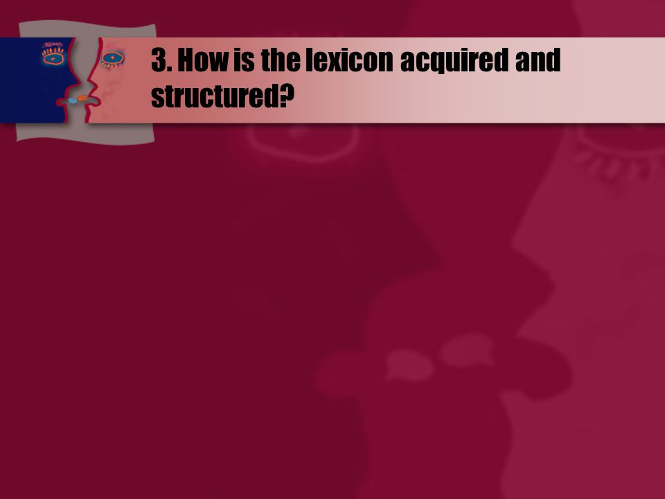 3. How is the lexicon acquired and structured?