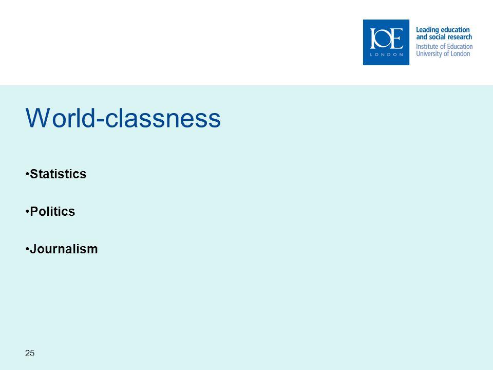25 World-classness Statistics Politics Journalism
