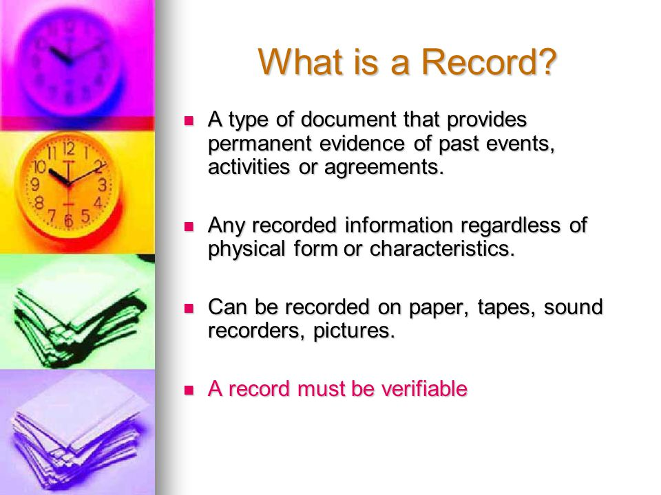 What is a Record.