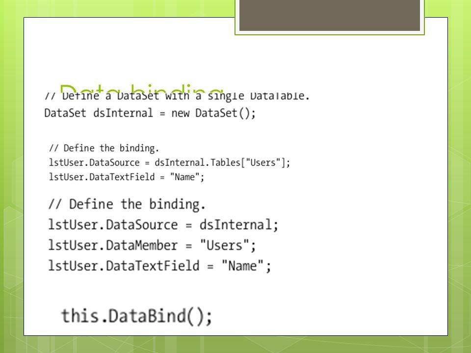 Data binding  Adaptor fill method,