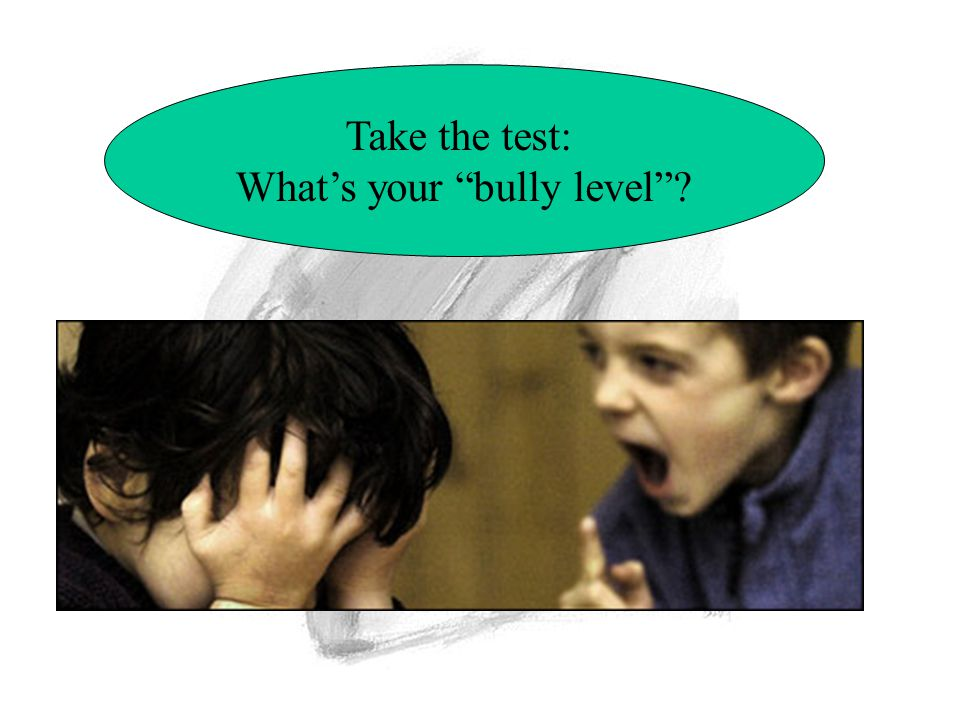 Take the test: What's your bully level