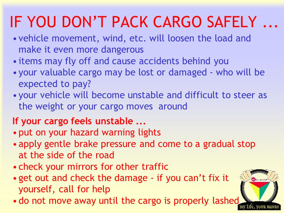 Transportation Tuesday IF YOU DON'T PACK CARGO SAFELY...