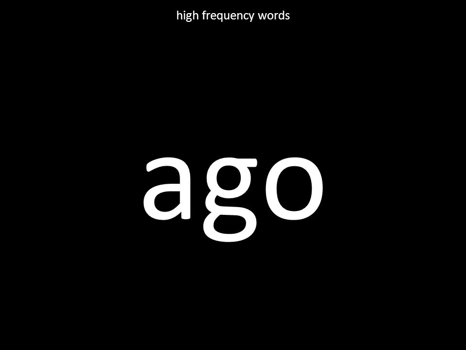 believe high frequency words