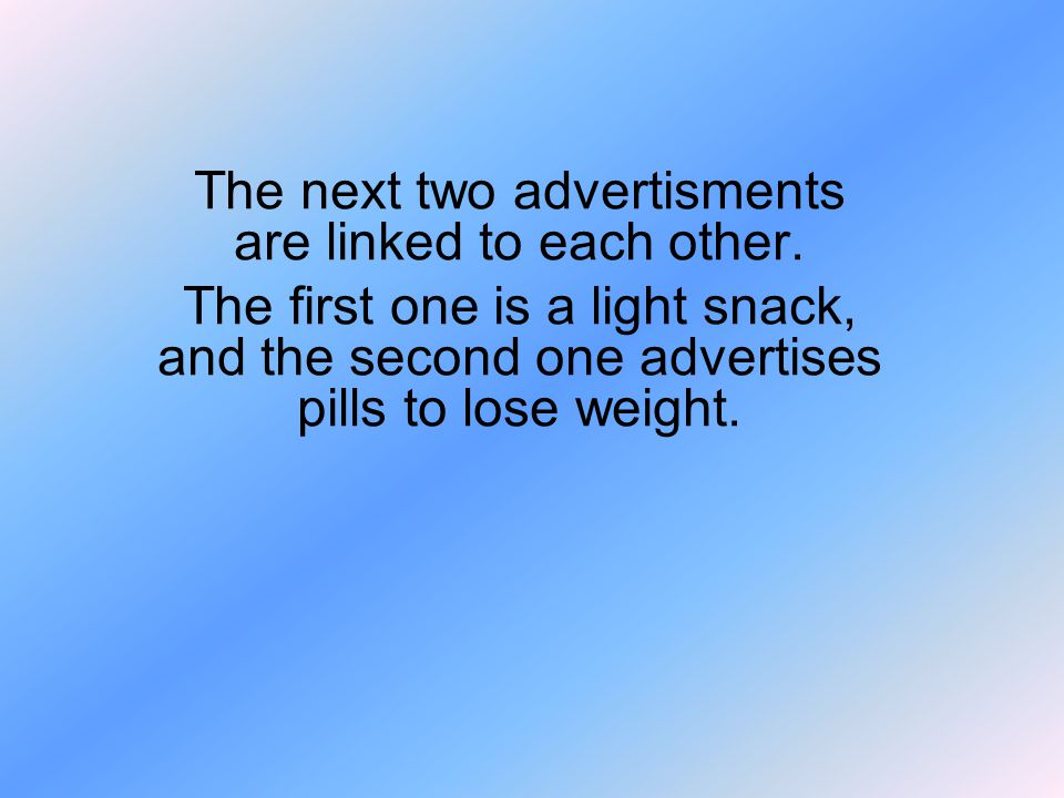 The next two advertisments are linked to each other.