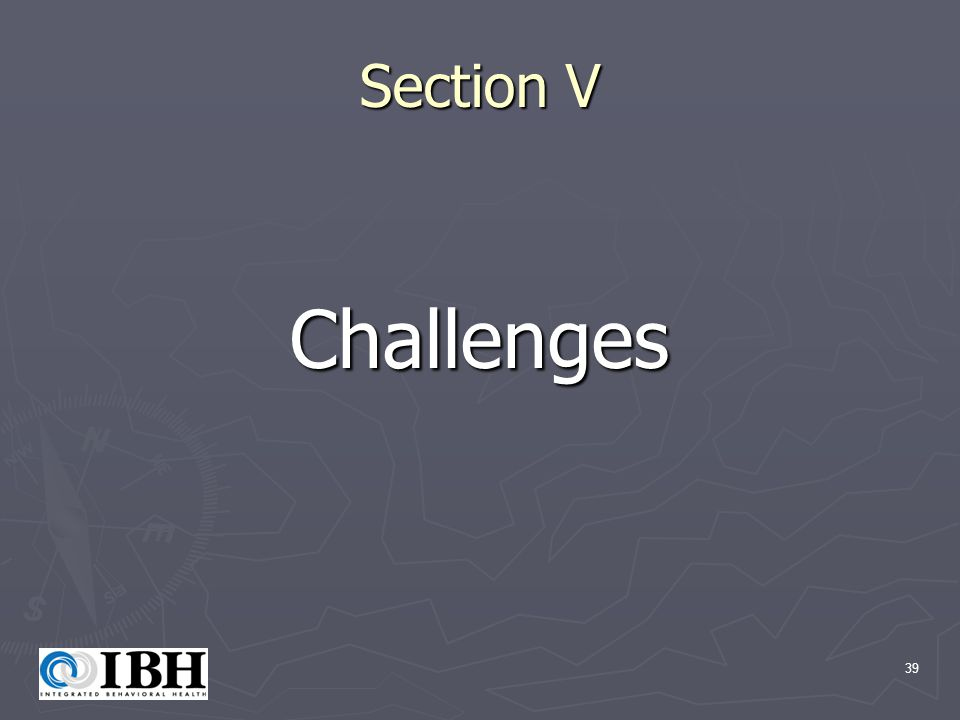 39 Section V Challenges