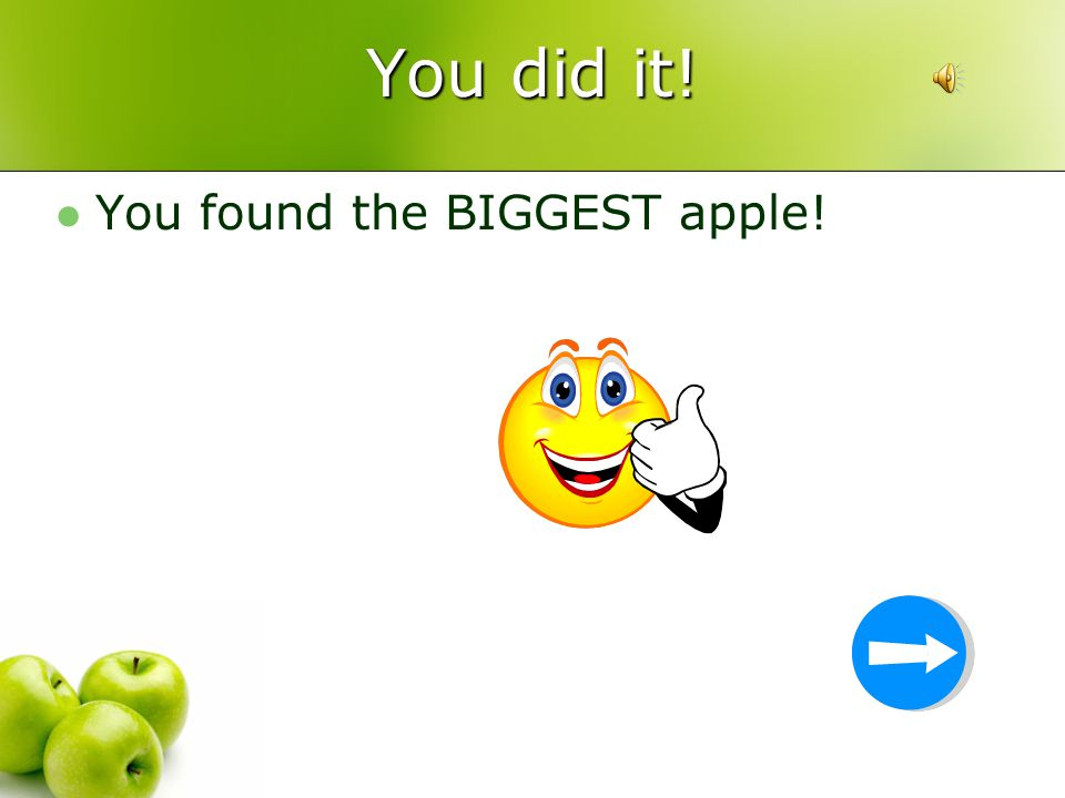 Which apple is the biggest?
