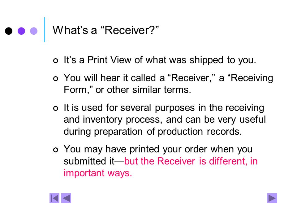 1. Print your own Receiver.
