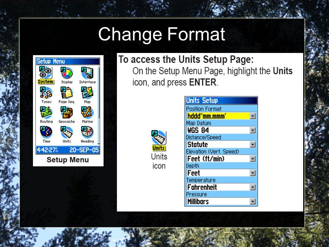 Change Format