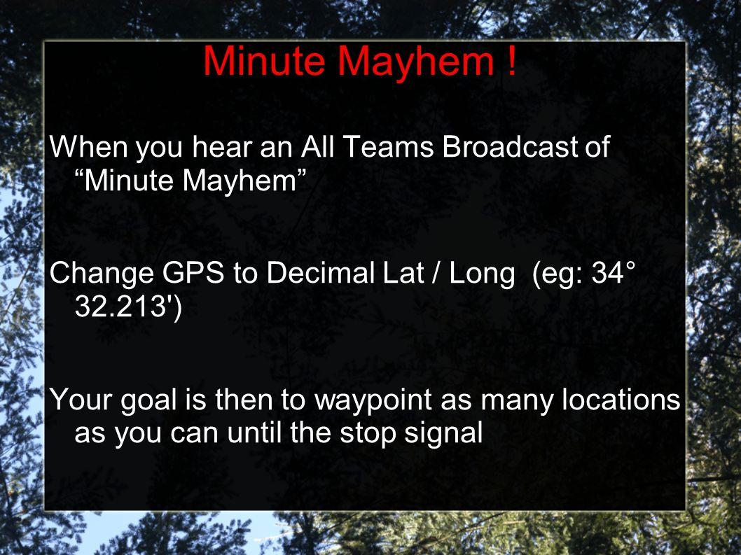 Minute Mayhem .