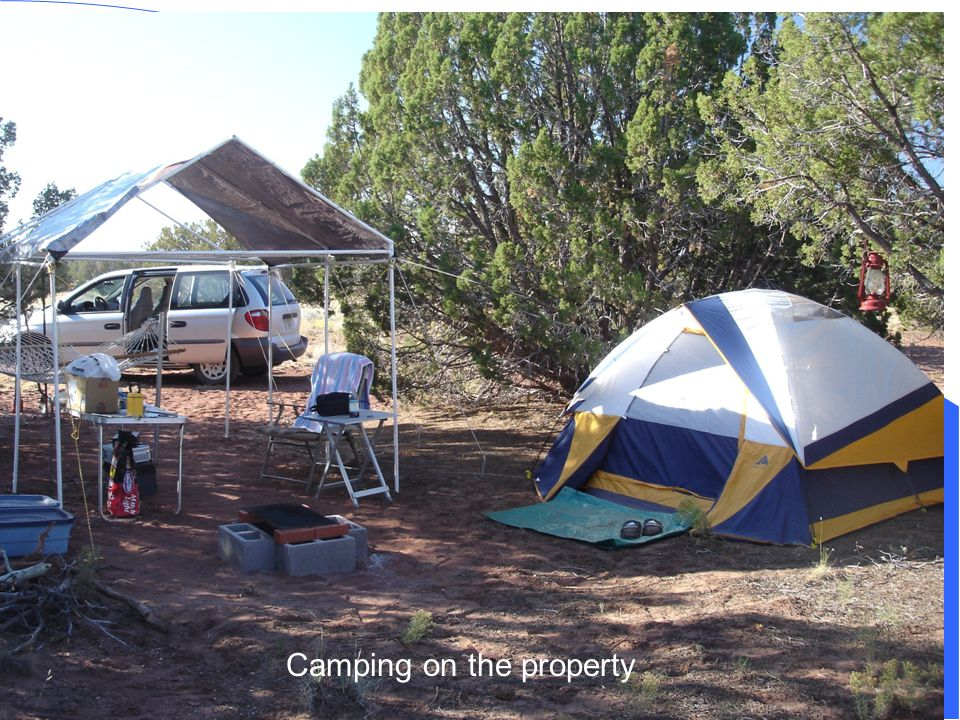 Camping on the property