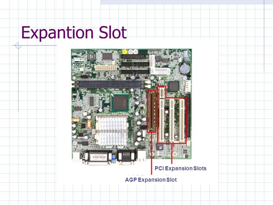 Expantion Slot AGP Expansion Slot PCI Expansion Slots